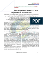Characterization of Sputtered Nano-Au Layer  Deposition on Silicon Wafer