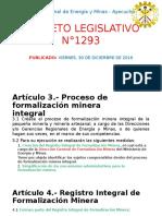 D. L.  N°1293 RESGISTRO INTEGRAL DE FORMALIZACION MINERA