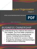 Chapter 8 Ownership and Organization