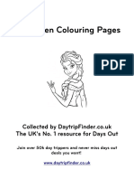 Frozen Colouring Pages Daytripfinder