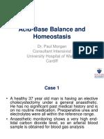 Acid-Base Balance and Homeostasis