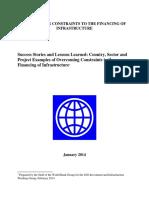 WBG IIWG Success Stories Overcoming Constraints to the Financing of Infrastructure