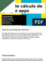 Hoja de Cálculo de Google Apps