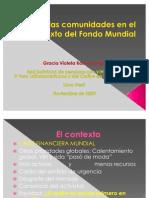 Rol de Las Comunidades en El Contexto Del Fondo Mundial