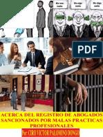 ACERCA DEL REGISTRO NACIONAL DE ABOGADOS SANCIONADOS POR MALA PRACTICA PROFESIONAL