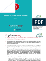 Etude OpinionWay Pour Groupama - Devenir Le Parent de Ses Parents
