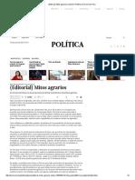 (Editorial) Mitos Agrarios _ Opinión _ Política _ El Comercio Peru
