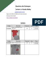 Catálogo Bebê - Queima de Estoque
