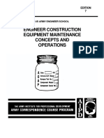 (eBook - English) US Army - Engineer Course en 5266 - Construction Equipment - Maintenance Concepts and Operations