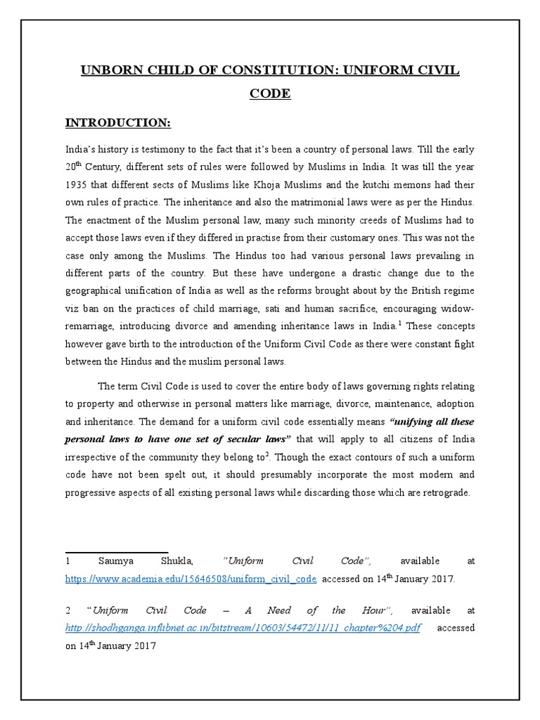 uniform civil code pdf