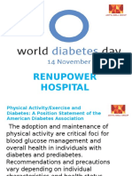 World Diabetes Day Physical Activities Guidelines