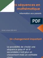 Les Séquences en Mathématiques