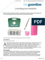 A GP's guide to stocking your medicine cabinet | Life and style | The Guardian