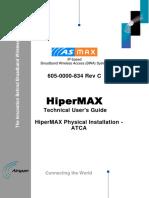 605-0000-834 HiperMAX Physical Installation - ATCA Rev C