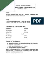 Comunicado Oficial Numero 1 Para Nicaragua Nuevo