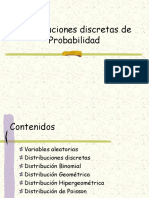 Distribución de probabilidades de variable discreta