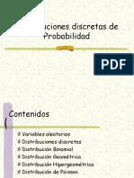 Distribución de probabilidades de variable discreta