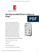 Cómo Elegir Una Unidad UPS Para Su Oficina o en El Hogar - CIOAL the Standard IT
