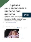 Ocho Pasos Para Reconocer a Un Bebé Con Autismo