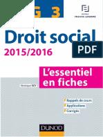 Véronique Roy DCG 3 - Droit Social 2015-2016 - Lessentiel en Fiches Express DCG