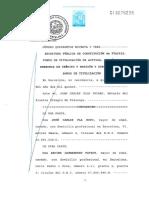 Escritura de Constitución del Fondo de Titulización Fta2015