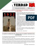 La Verdad, órgano de divulgación del PCS, N° 14, enero 2017