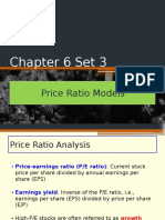 Chapter 6 Set 3 Price Ratio Models