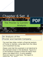 Chapter 6 Set 4 the Procter & Gamble Company Analysis