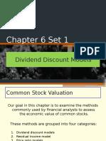 Chapter 6 Set 1 Dividend Discount Models