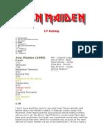 Iron Maiden LP Rating