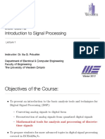 Digital Signal Processing UWO Lecture+1%2C+January+6th