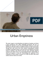 Presentation Urban Emptiness  2016