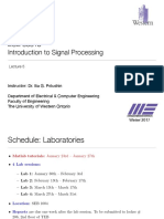 Digital Signal Processing Lecture+5%2C+January+20th