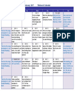 think work calendar feb