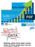 12 Data Analytics Strategies Where and When Big Data Matters