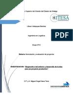 Diagnostico Del Entorno y Desarrollo de La Idea Para Un Proyecto Productivo