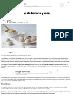 Trufas Energéticas de Banana y Maní _ Recetas Veganas Fáciles