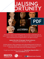 Bristol WORKS Equalising Opportunities Flyer