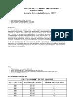 PIB Colombiano relacionado con Veterinaria