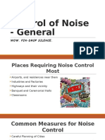 Control of Noise - General Personal