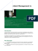 Critical Incident Management in Sport
