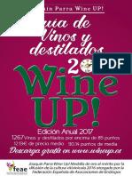 Guía Wine UP 2017 con los mejores vinos y destilados de España