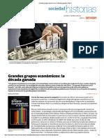 Ecuador, Grandes Grupos Económicos La Década Ganada Plan V