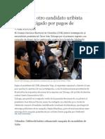 Otro Candidato Uribista Será Investigado Por Pagos de Odebrecht