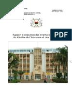 Rapport d'Exécution Des Orientations Mef 2013 Du 17-07-13