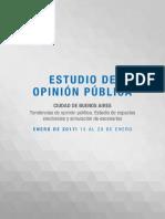 Estudio de Opinión Electoral en La Ciudad de Bs as Enero 2017