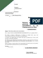 Note Sur Les Cadres de Concertation