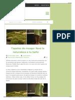 Tapetes de Musgo- Llevá La Naturaleza a Tu Baño - La Bioguía