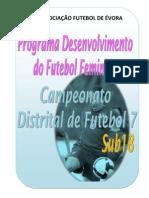 to Distrital de Futebol 7 Feminino - Sub18
