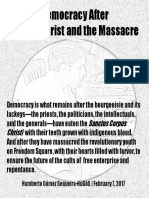 Democracy After the Eucharist and the Massacre